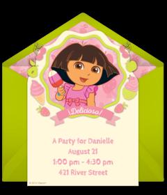 Dora Ice Cream Party