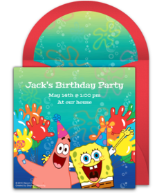 Free SpongeBob SquarePants Online Invitations