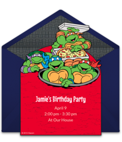 Teenage Mutant Ninja Turtles Online Invitations Punchbowl
