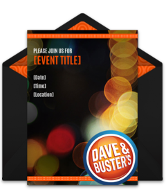 Free Dave Busters Online Invitations Punchbowl