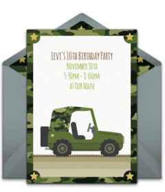 photograph regarding Free Printable Military Greeting Cards known as Free of charge Military services On the internet Invites Punchbowl
