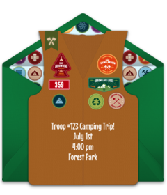 Free Boys And Girls Scouts Online Invitations