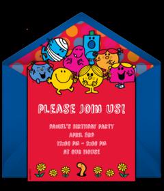 free mr men little miss online invitations punchbowl