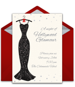 Free award show online invitations punchbowl hollywood glam stopboris Images