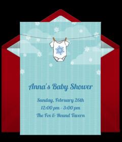 Winter Baby Shower. Free