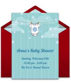 free baby shower online invitations punchbowl