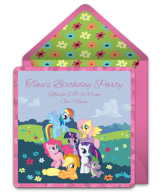 Free My Little Pony Online Invitations Punchbowl
