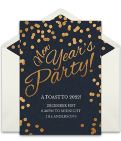 New Yearu0027s  Invitation For Party Template