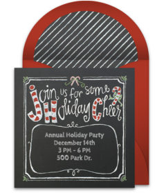 Christmas Online Invitations Punchbowl - Annual holiday party invitation template