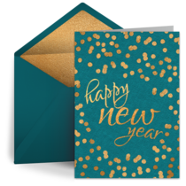 Happy New Year Dots card image