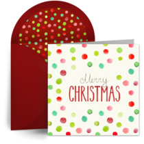 Christmas Polka Dots card image