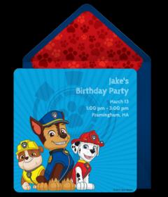 Free PAW Patrol Online Invitations Punchbowl - Paw patrol invitation template