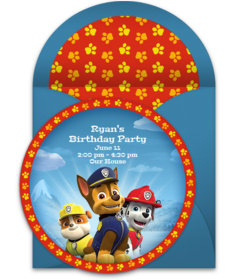 Free paw patrol online invitations punchbowl paw patrol birthday stopboris Image collections