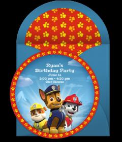 Free PAW Patrol Online Invitations