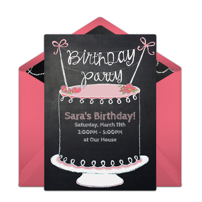 Free chalkboard birthday cake online invitation punchbowl chalkboard birthday cake online invitation filmwisefo Choice Image