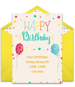 Rainbow Birthday Cake Disney Online Invitations Courtesy Of Family Free Plus
