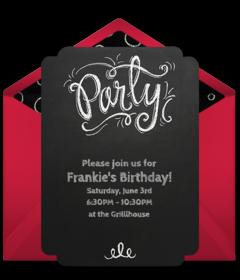 Free teen birthday online invitations punchbowl teen birthday stopboris Gallery