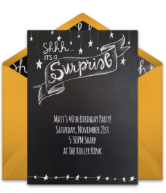 Surprise Chalkboard Free Plus Birthday Party Dots