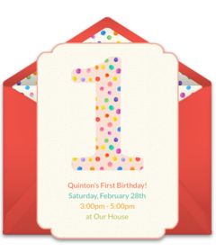 Free 1st birthday online invitations punchbowl 1st birthday dots filmwisefo Choice Image