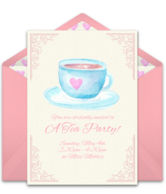 free tea coffee online invitations punchbowl