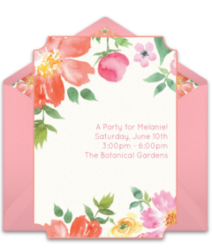 spring party invitations