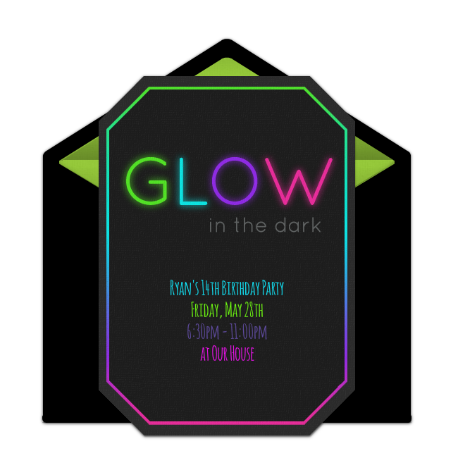 Free glow in the dark online invitation punchbowl glow in the dark online invitation stopboris Image collections