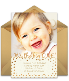 Excellent Free 1St Birthday Online Invitations Punchbowl Funny Birthday Cards Online Inifofree Goldxyz