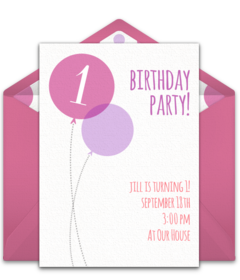 Free 1st birthday online invitations punchbowl filmwisefo Images