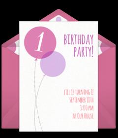 Pleasant Free 1St Birthday Online Invitations Punchbowl Funny Birthday Cards Online Fluifree Goldxyz