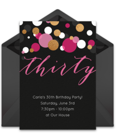 Free Adult Birthday Party Online Invitations Punchbowl - Unique birthday invitations for adults