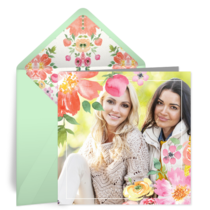 Watercolor Bouquet Photo card image