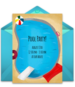 Free Summer Party Online Invitations Punchbowl - Free shark birthday invitation template