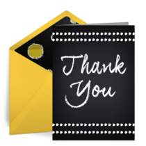 Chalkboard Thank You card image
