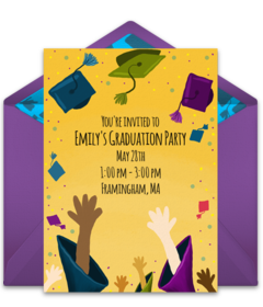 Elementary middle school online invitations punchbowl grad hat toss filmwisefo