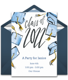 Free grad invitations graduation online invites punchbowl grad cap celebration filmwisefo
