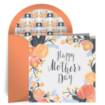 Floral Mother's Day card image