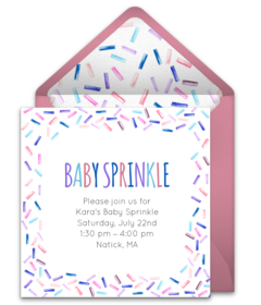 Free Baby Sprinkle Online Invitations