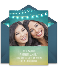Plus String Lights Disney Online Invitations