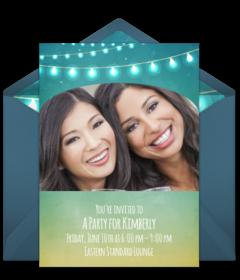 Plus String Lights Disney Online Invitations