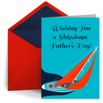 Shipshape Father's Day card image