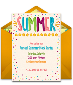 Summer Themed Invitations Hadi Palmex Co