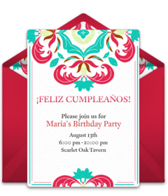 Free Spanish Invitations Spanish Online Invites Punchbowl - Birthday party invitation in spanish