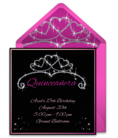 Free quinceaera online invitations punchbowl quinceaera crown stopboris Choice Image