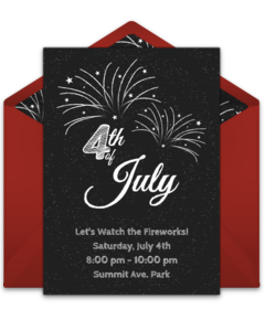 picture about Free Printable Patriotic Invitations identify No cost 4th of July On the net Invites Punchbowl