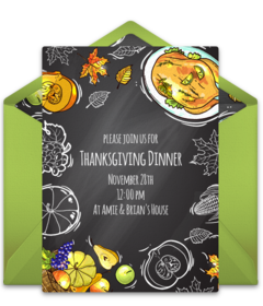 Free Thanksgiving Online Invitations