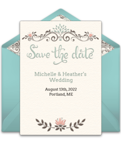Rustic Wedding Save The Date