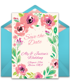 Free Wedding Save The Dates Online Punchbowl - Save the date indian wedding templates free