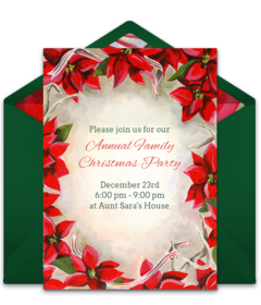 invitation card for christmas party
