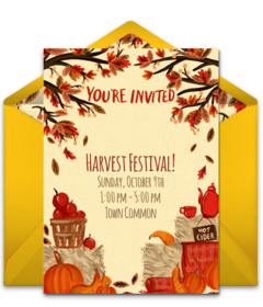 free fall themed online invitations punchbowl
