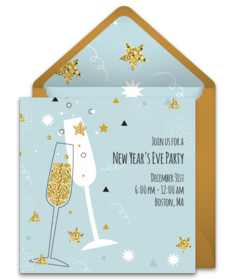 glittering champagne free plus celebrate the new year